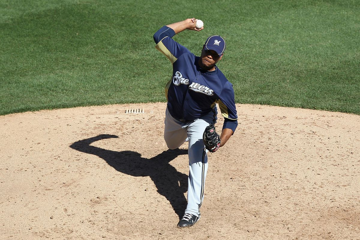 Milwaukee Brewers prospect Wily Peralta (Photo by Christian Petersen, Getty Images)