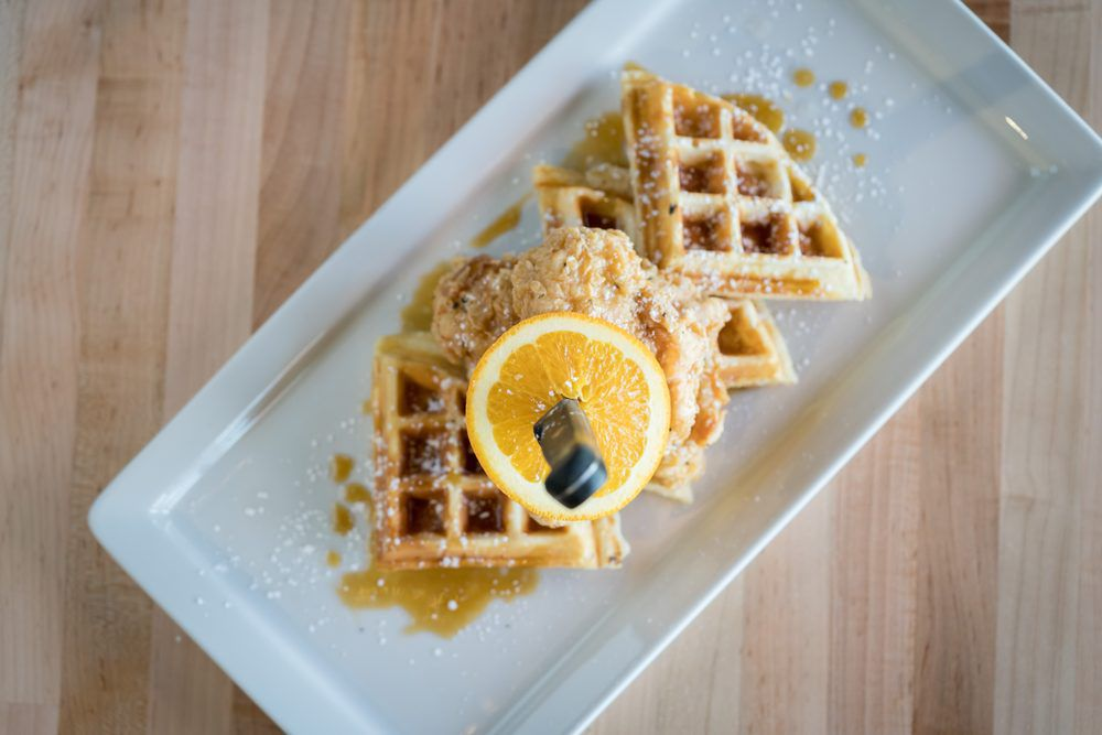 Hideaway's chicken and waffles