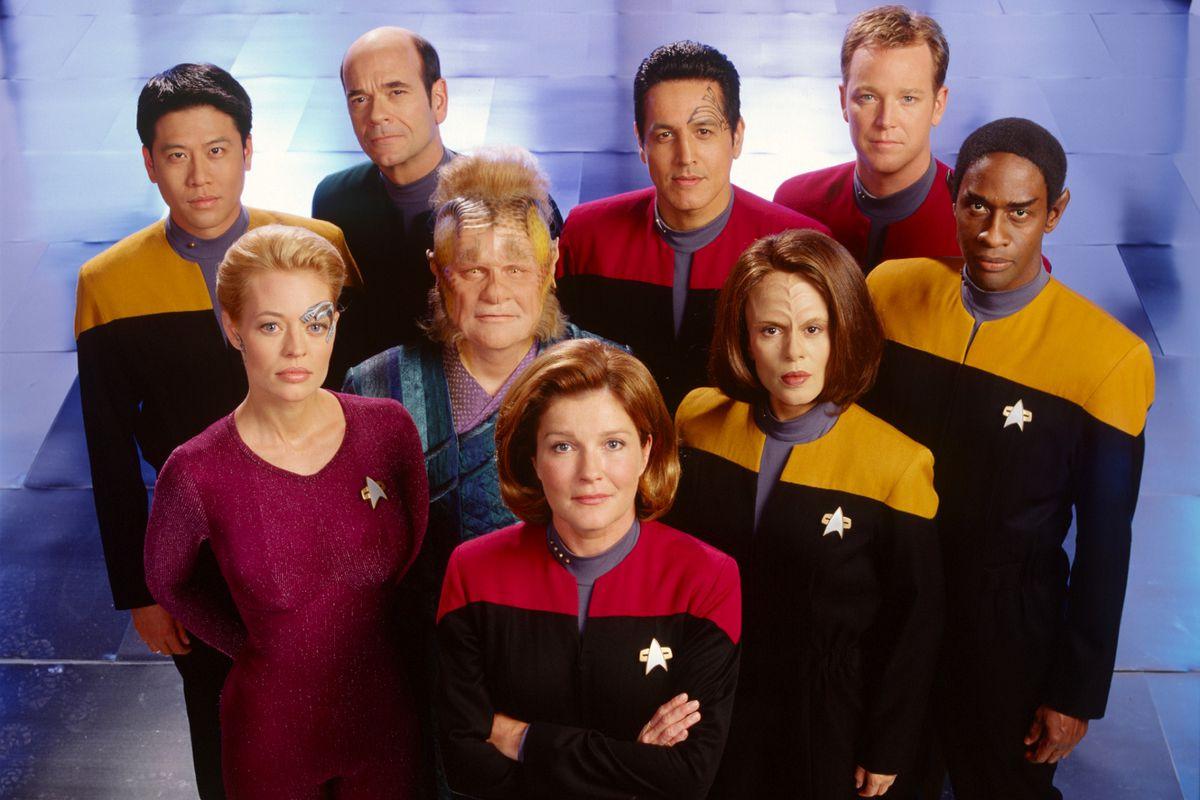 The cast of Star Trek: Voyager