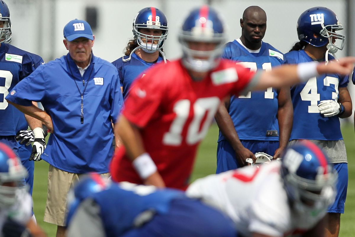 Tom Coughlin will get to see his Giants on the field this week.