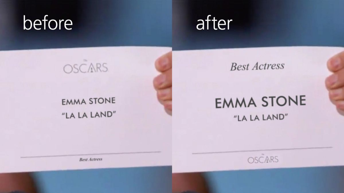The Typography Fix That Could Have Stopped Oscars Best Picture Blunder Vox