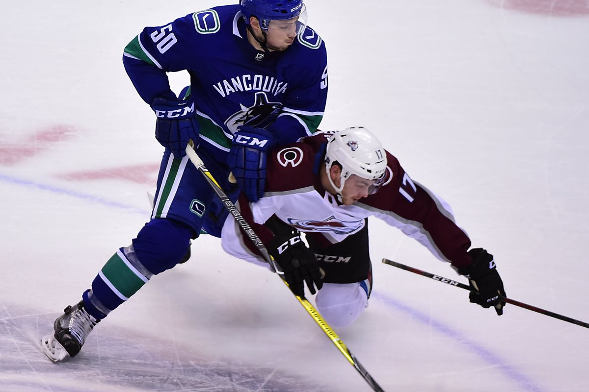NHL: Colorado Avalanche at Vancouver Canucks