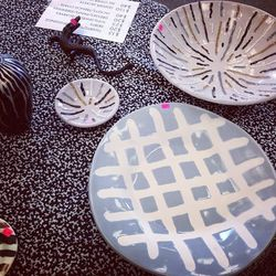 Kelly Wearstler decor priced as marked. These plates ranges from $50 to $75.