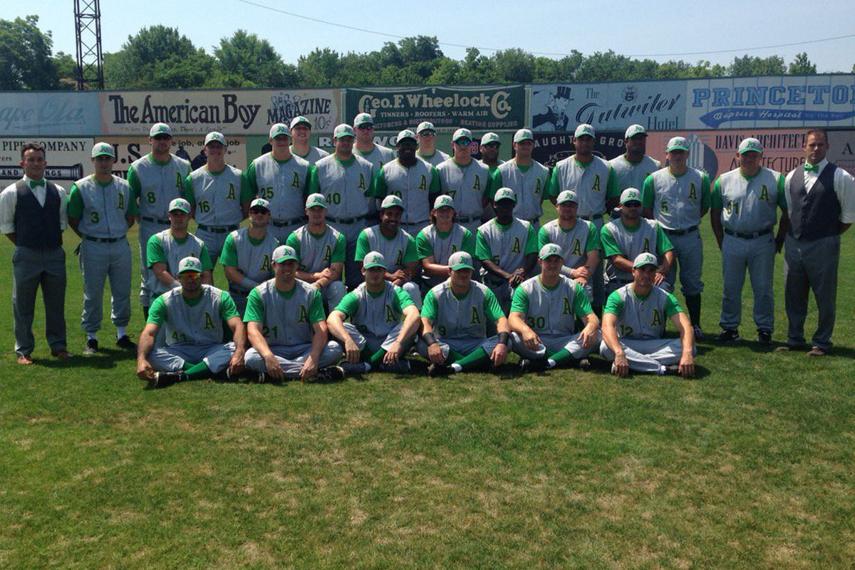 The Birmingham Barons in the Rickwood Classic.