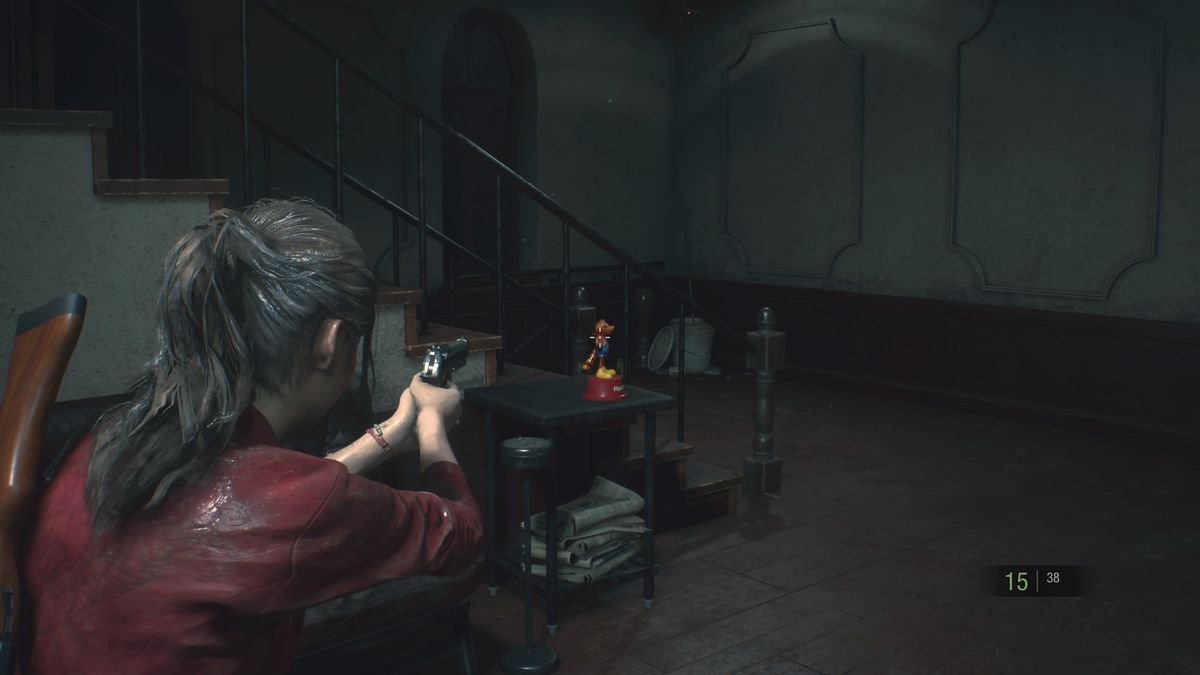 Resident Evil 2 Mr. Raccoon Chief's Office Hallway location