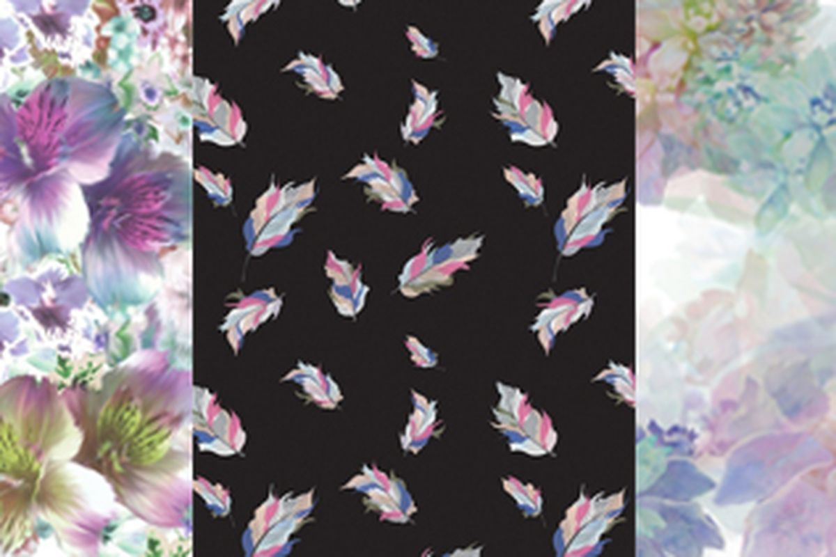 "Three Whitney Eve art prints. Photo via <a href=""http://lisastannardshop.bigcartel.com/product/spring-12-purple-floral"">Lisa Stannard</a>."