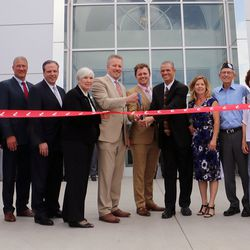 A ribbon-cutting ceremony for the Larry H. Miller Dodge Ram dealership in Peoria, Arizona, was held in 2014.