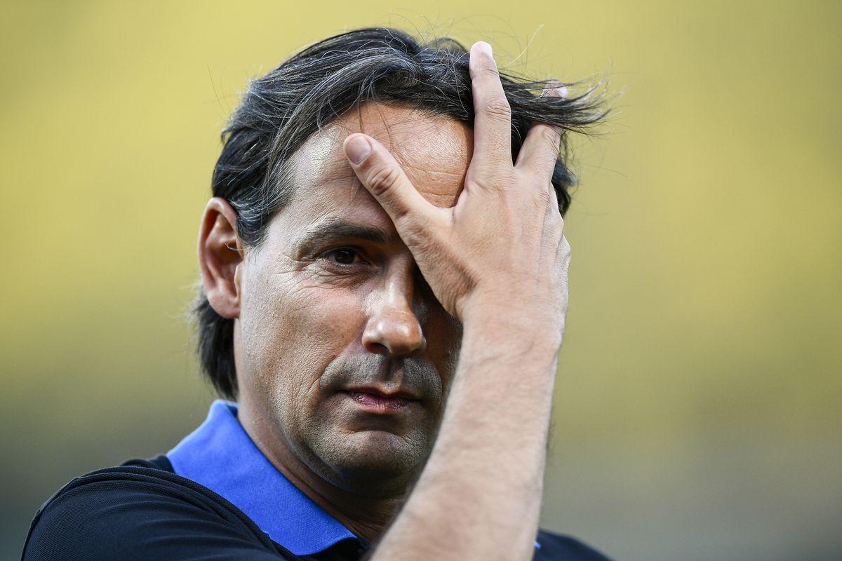 Simone Inzaghi, new head coach of FC Internazionale, fixes...