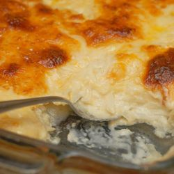 Celebration Potatoes take the place of traditional funeral potatoes by Liz from fromscratchtoplate.com.