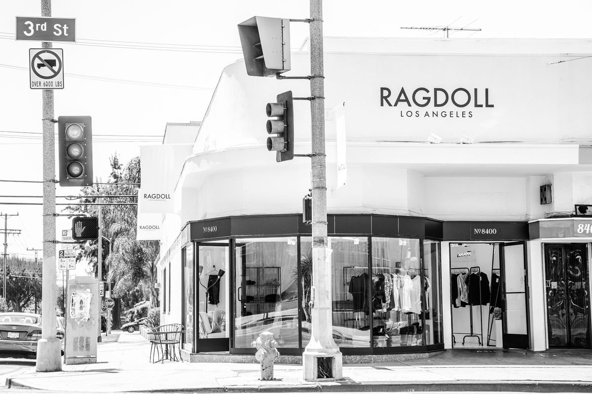 The storefront of Ragdoll in LA