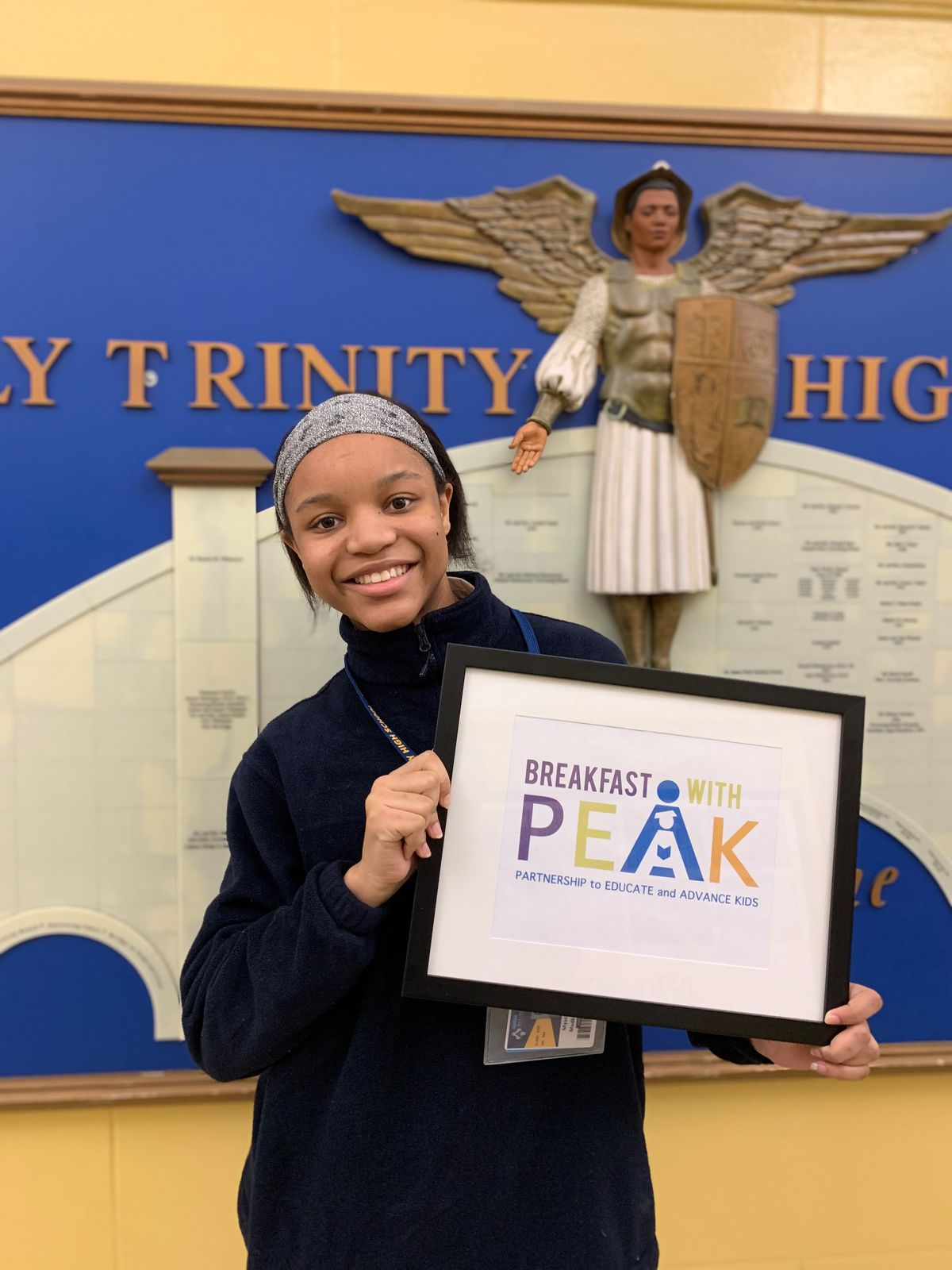 """Myasia Madkins, 17, who attends Holy Trinity High School through the Partnership to Educate and Advance Kids, a tuition and mentoring program, has seen her grades go up during remote learning, bucking the trend. """"Because of COVID and being at home, I didn't have as many distractions. I focused in on schoolwork."""""""