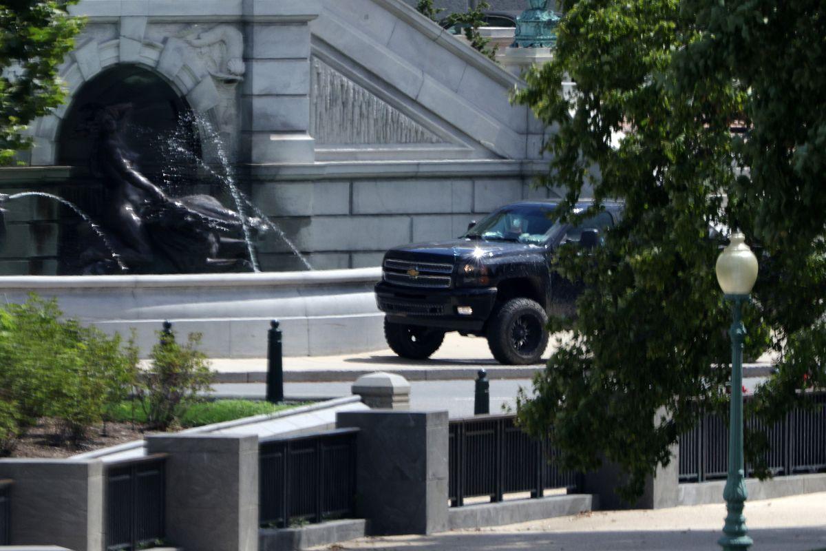 Pickup truck at Capitol
