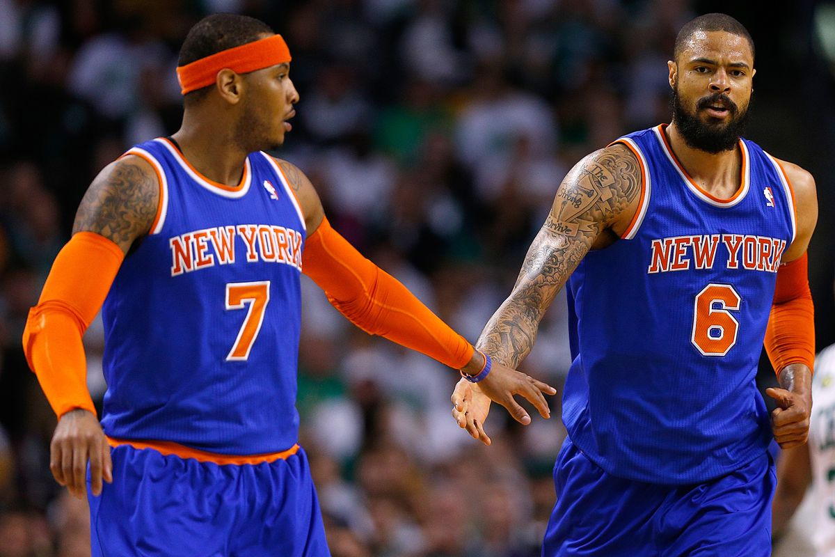 Carmelo Anthony and Tyson Chandler