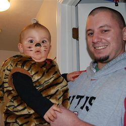 Joey Tucker with his daughter, Devree, 8 months old at the time. He was shot and killed by a Salt Lake officer Thursday after he allegedly tried to ram an officer with his truck.