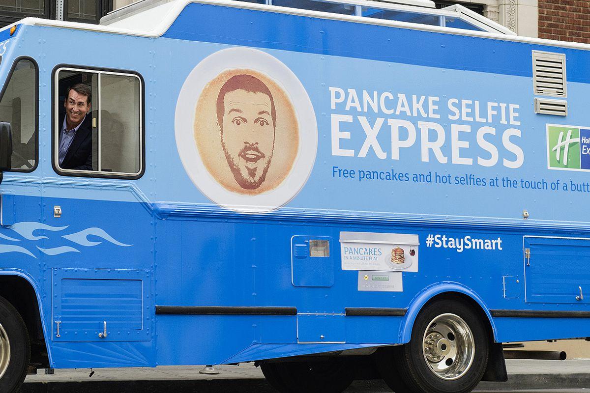 The Pancake Selfie Express from Holiday Inn Express