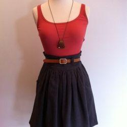 Belted Mini Skirt $326