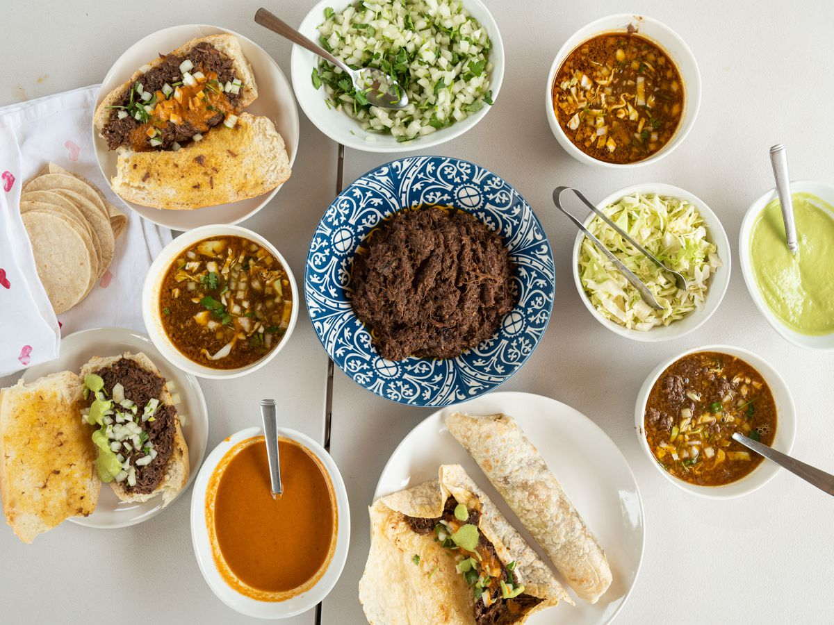 Barbacoa lonches, tacos, burritos, and consome from Barbacoa Estilo Chihuahua.