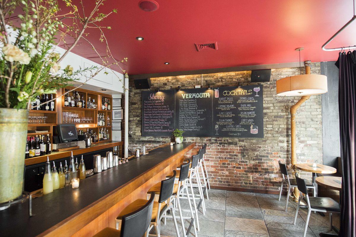 The bar at Hearth