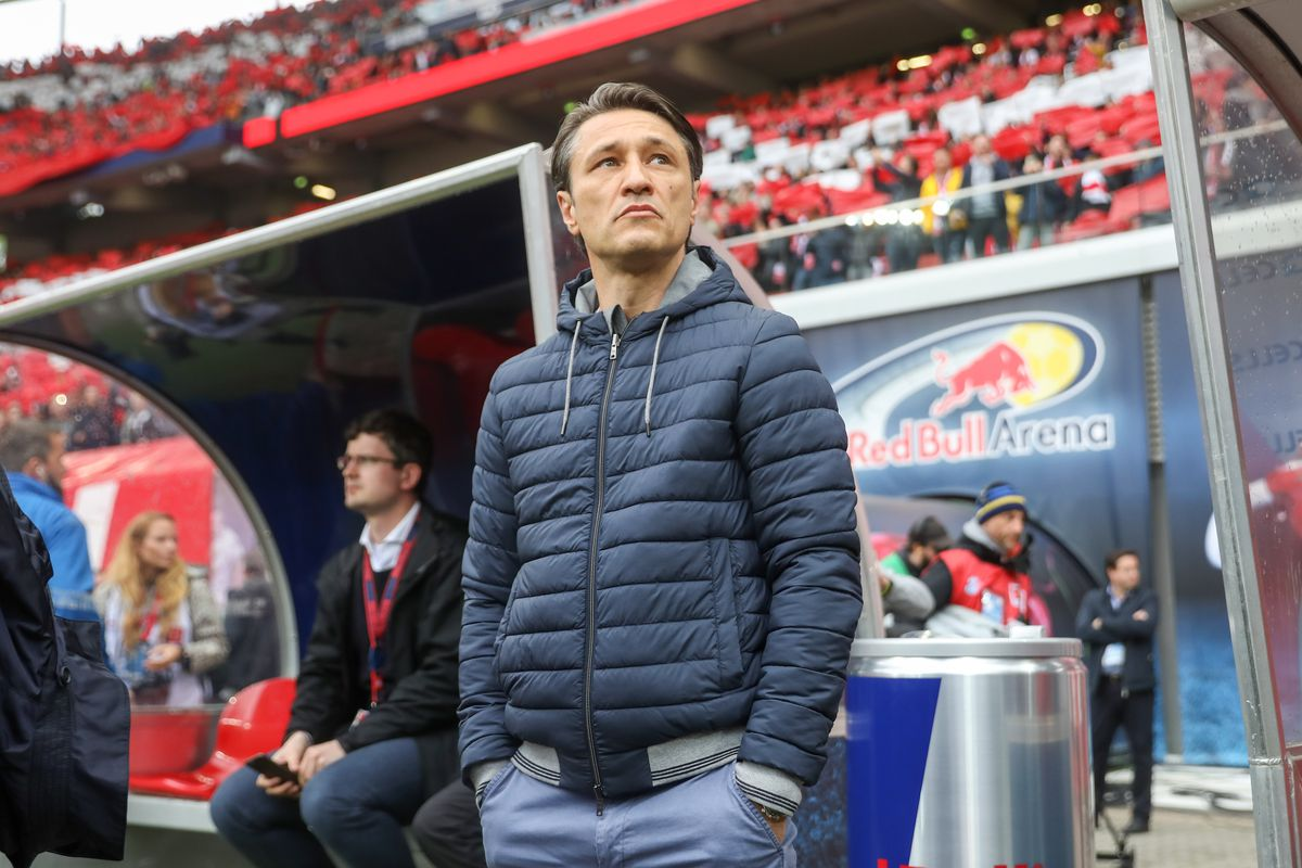 11 May 2019, Saxony, Leipzig: Soccer: Bundesliga, 33rd matchday, RB Leipzig - Bayern Munich in the Red Bull Arena Leipzig. Munich coach Niko Kovac is about to play in the stadium.