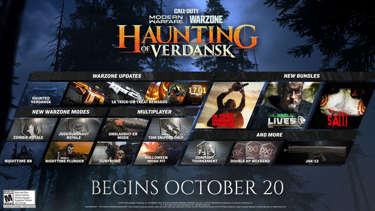 Haunting of Verdansk in-game activities