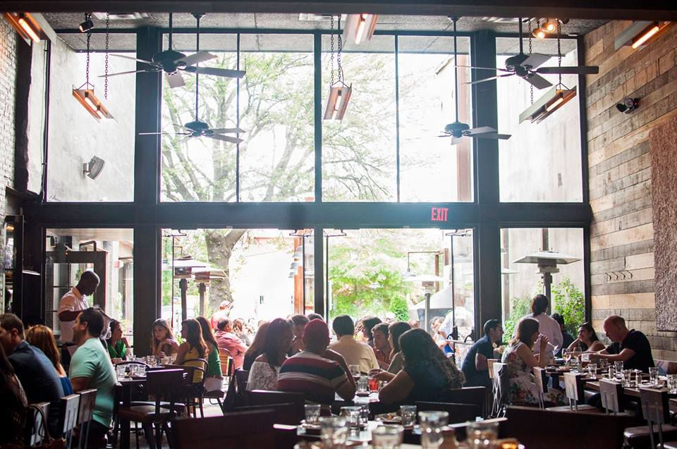 Barcelona's high ceilings and moody patio have made it a 14th Street destination [Photo: R. Lopez]