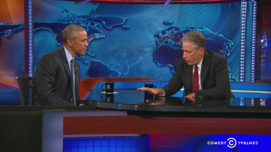 Jon Stewart and Obama