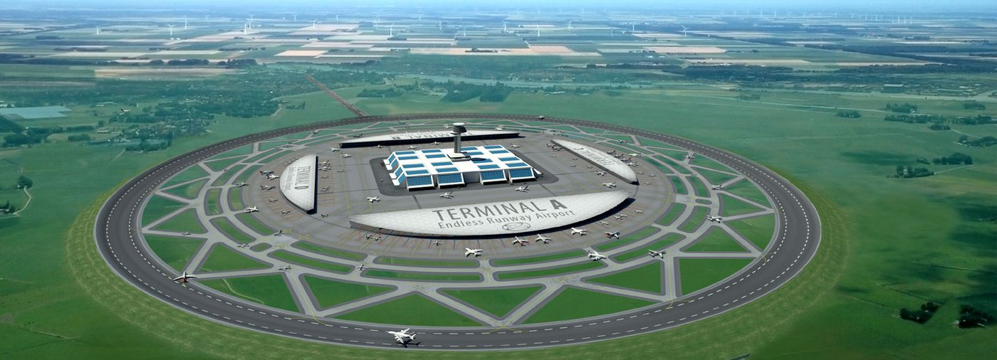 rendering of circular runway