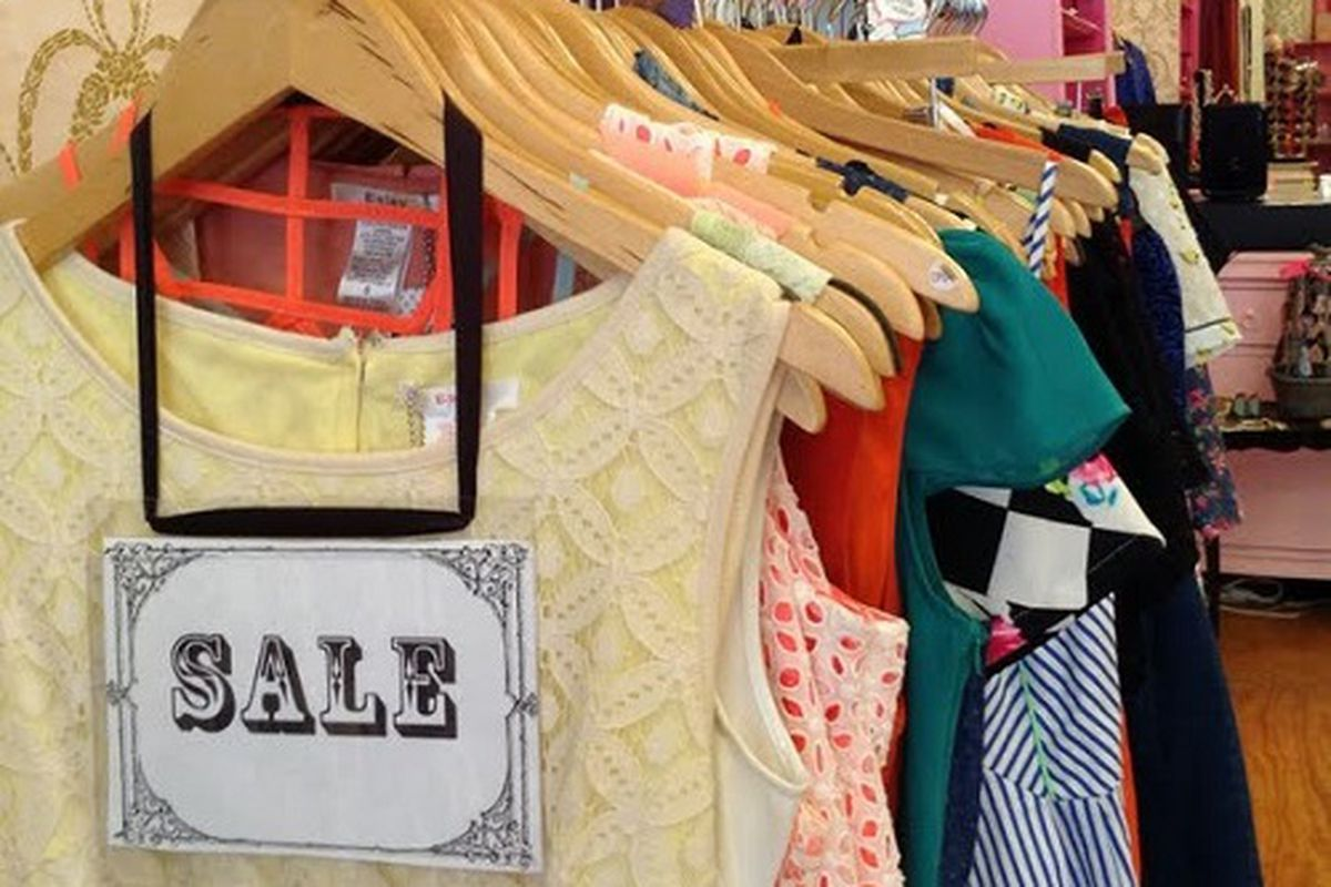 """The sale racks are brimming with soon-to-disappear seasonal finds at Smak Parlour. Image credit: <a href=""""http://www.smakparlour.com"""">Smak Parlour</a>"""