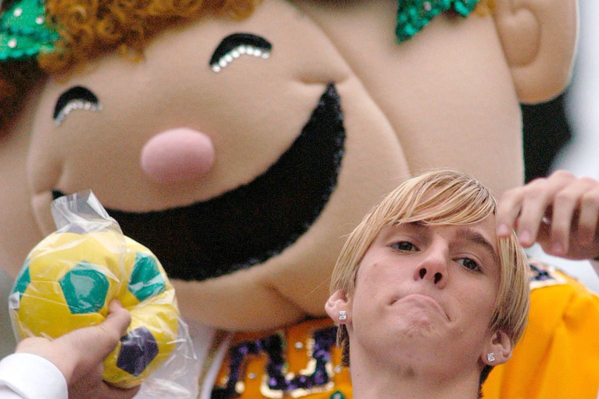 Singer Aaron Carter At Mardi Gras In New Orleans