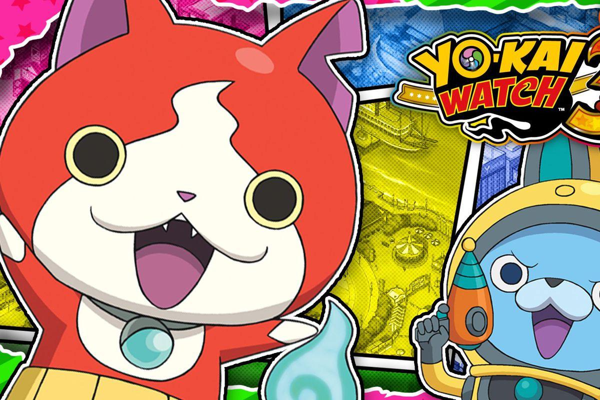 Yo-Kai Watch 3 artwork featuring Jibanyan and Usapyon