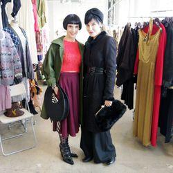 Artists Angela DeCristofaro and Nelly Recchia at Saturday's A Current Affair vintage marketplace.