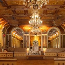 """<b>The Plaza Hotel:</b> 1 West 58th Street New York, NY; <a href=""""http://www.theplazany.com/events/weddings/"""">book it here</a>. [<a href=""""http://www.theplazany.com/events/the-terrace-room/"""">Photo</a>]"""