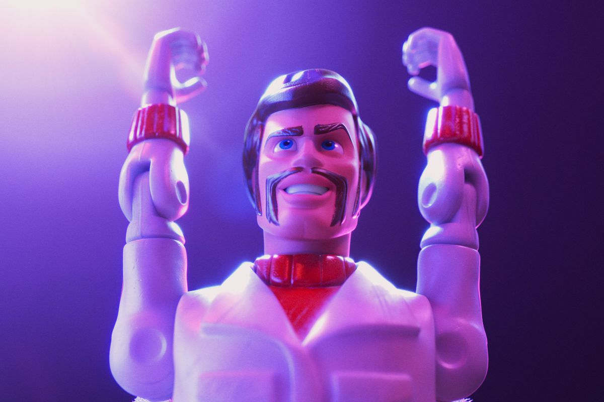 Duke Caboom (voiced by Keanu Reeves).