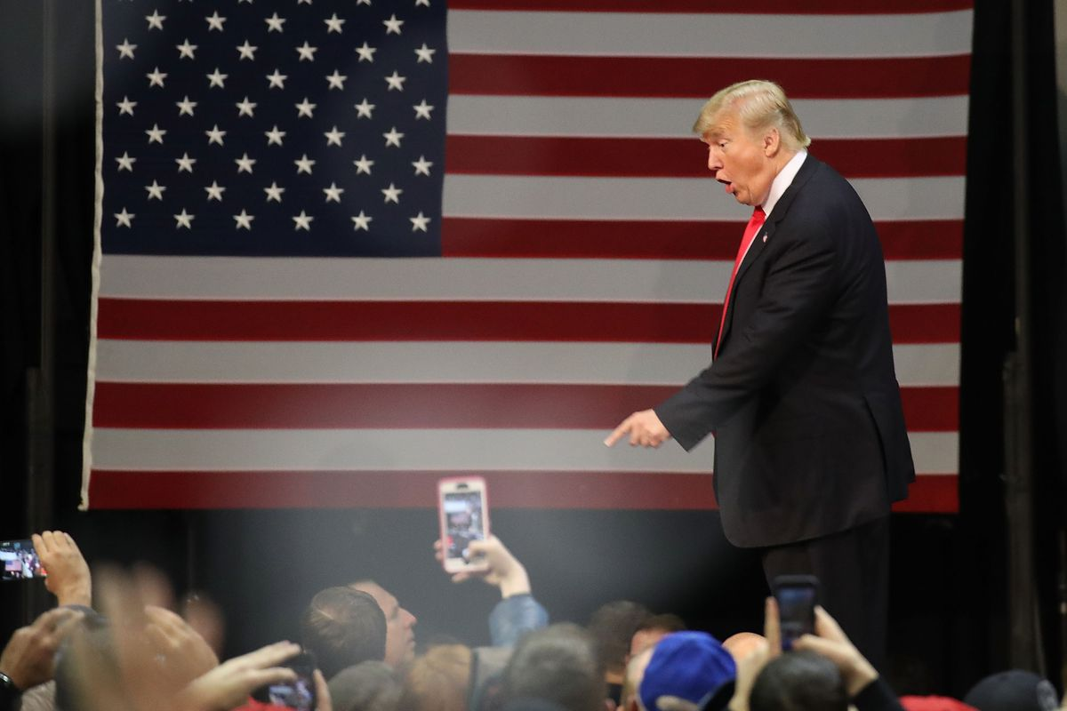 President Trump at a campaign rally in Pensacola, Florida, in December 2017.