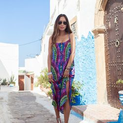 """Aimee of <a href=""""http://songofstyle.blogspot.com/"""">Song of Style</a> is wearing a <a href=""""http://piperlime.gap.com/browse/product.do?pid=731801002&tid=plaff4441350&ap=2&siteID=plafcid105"""">Mara Hoffman</a> dress, <a href=""""http://piperlime.gap.com/browse/"""