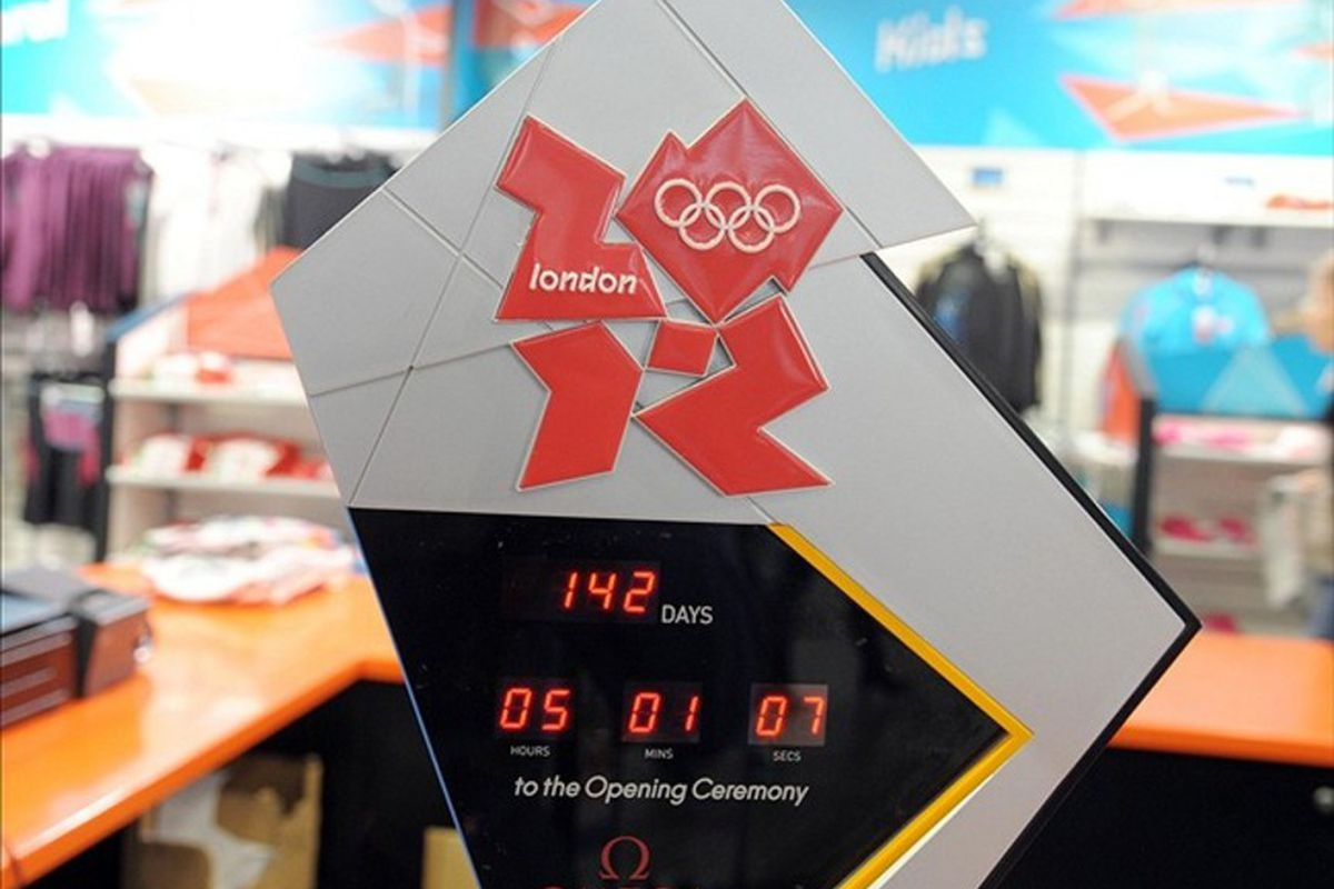 Mar 7, 2012; London, UNITED KINGDOM; General view of an opening ceremonies countdown clock at the 2012 London Olympics store in Terminal 5 of the Heathrow Airport. Mandatory Credit: Kirby Lee/Image of Sport-US PRESSWIRE