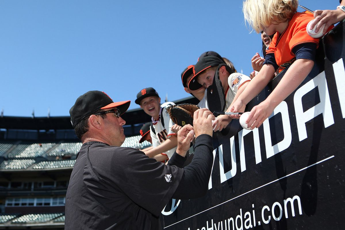 Will Clark signing autographs