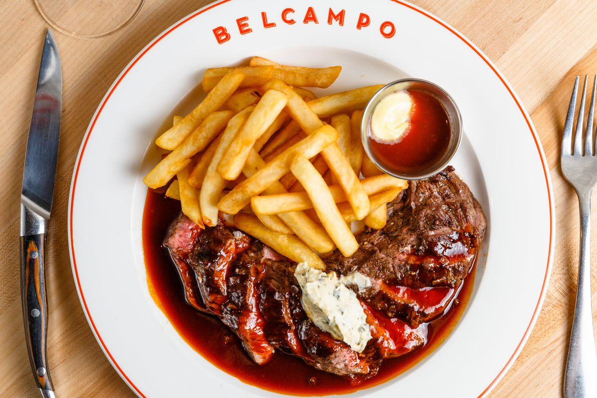 Belcampo's steak frites