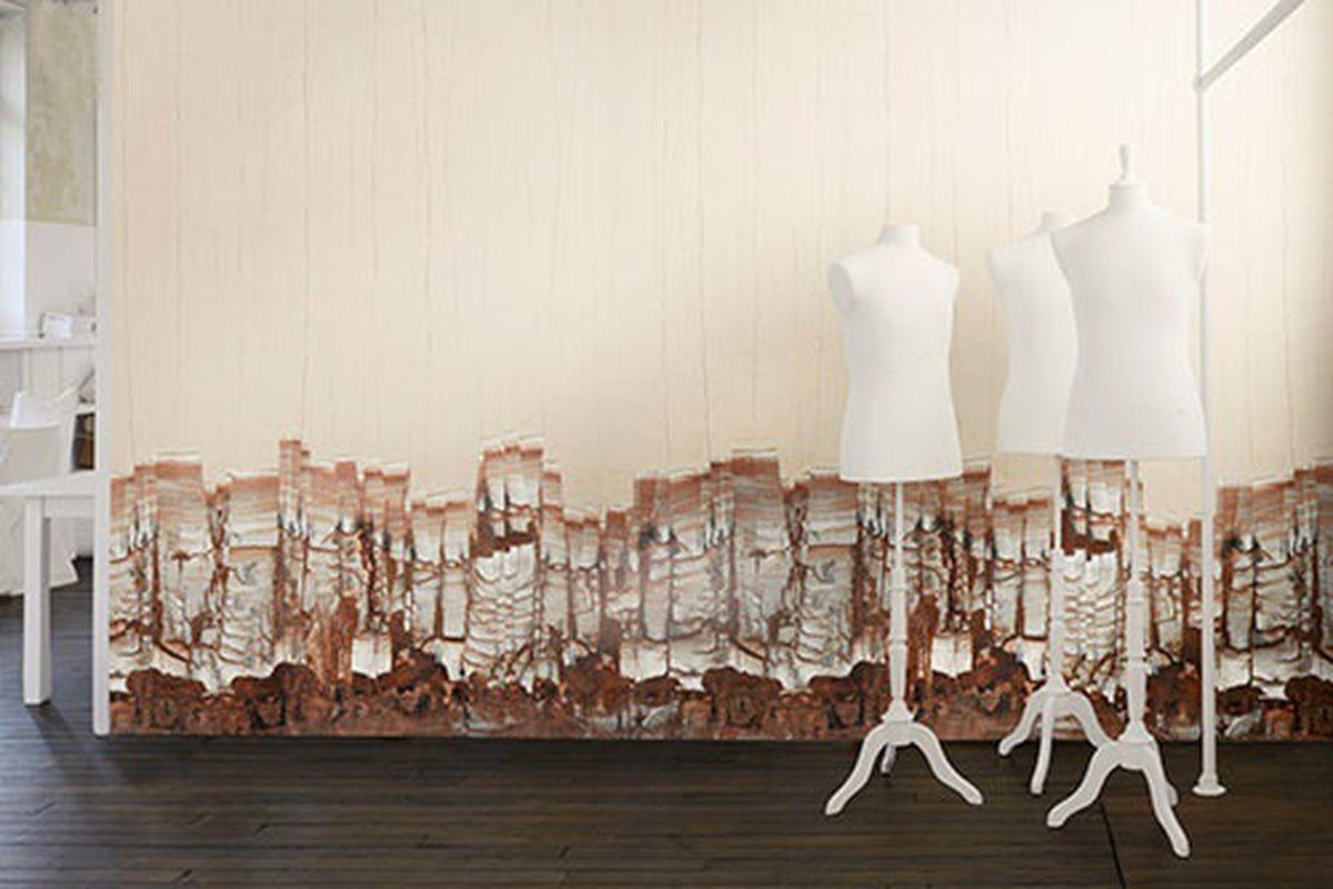 """Maison Martin Margiela wallpaper. Photo via <a href=""""http://www.fashiongonerogue.com/maison-martin-margiela-wallpaper-omexco/"""">Fashion Gone Rogue</a>."""