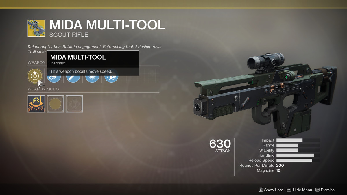 MIDA Multi-Tool Exotic Destiny 2