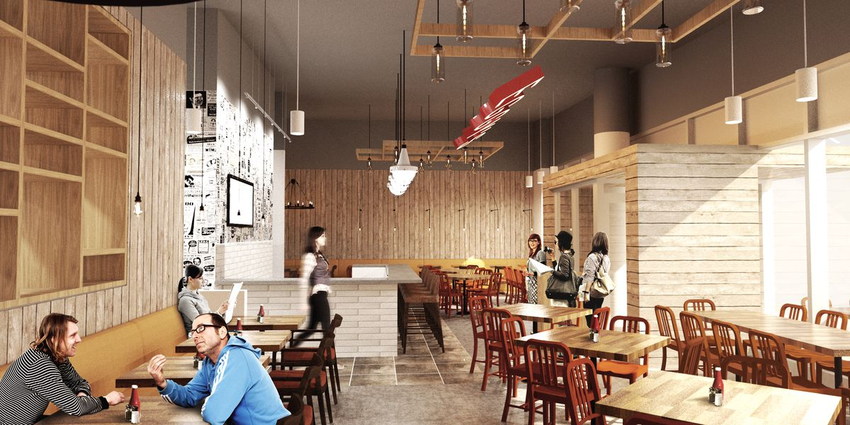 A rendering of Eggy's. Photo courtesy bKl Architecture
