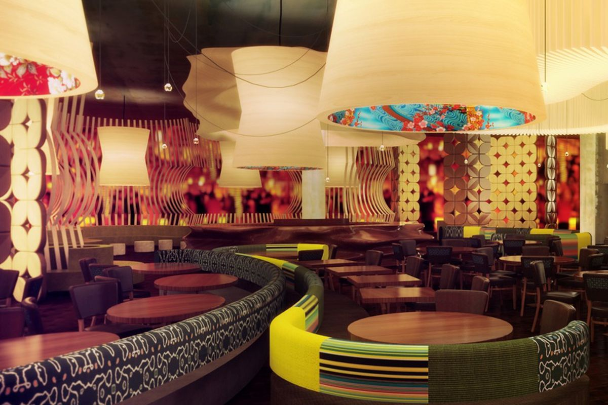 A rendering of the new Nobu Restaurant coming to Caesars Palace