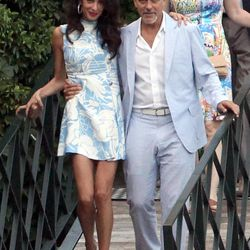 Amal and George Clooney in Lake Como