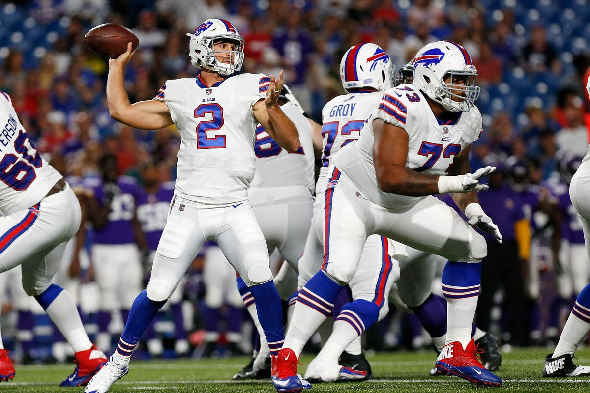 fe2cd2a98 Nathan Peterman states his case for the No. 2 spot in Buffalo ...