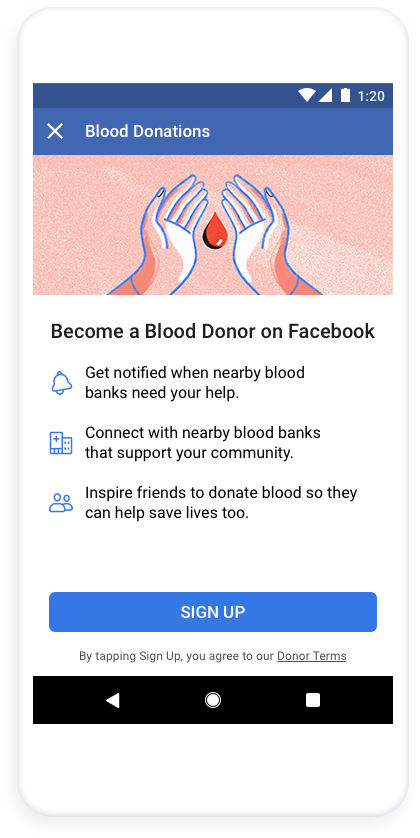 prix bas toujours populaire prix compétitif Facebook is now helping blood drives in the US reach willing ...