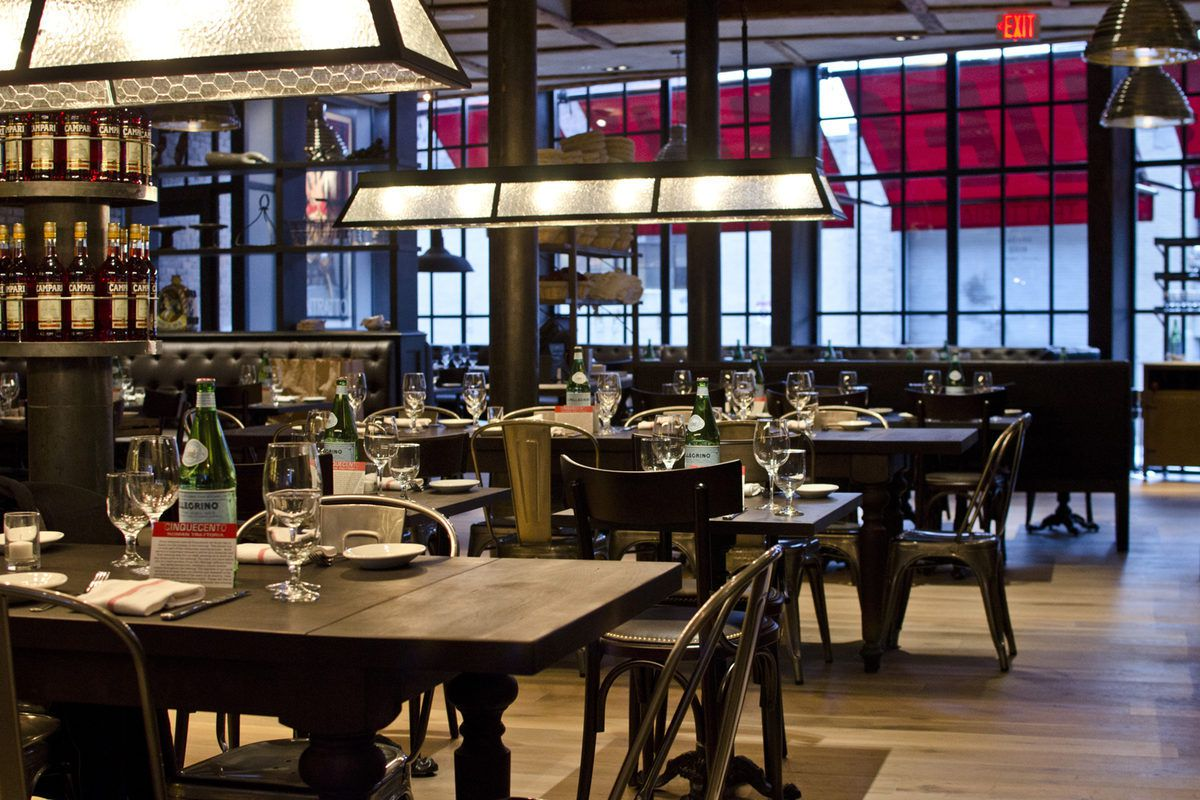 Peek At Cinquecento S Gorgeous Trattoria Ambiance Eater