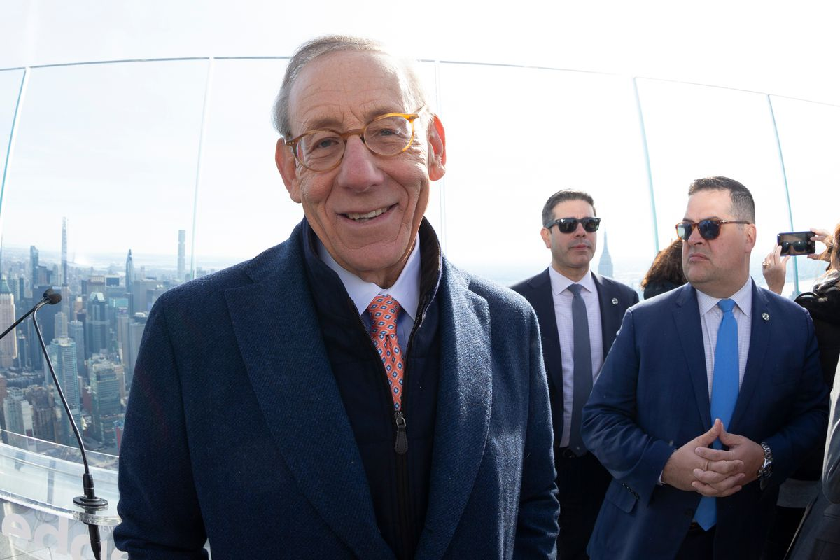 Stephen Ross attends the opening of the The Edge observation deck at the Hudson Yards, March 11, 2020.