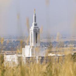 The Church of Jesus Christ of Latter-day Saints' Pocatello Idaho Temple is pictured on Monday, Sept. 13, 2021, in Pocatello, Idaho.