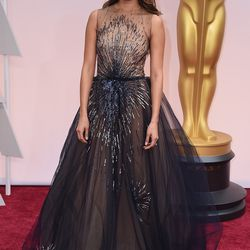 Jamie Chung in a Yanina Couture dress. All photo: Getty