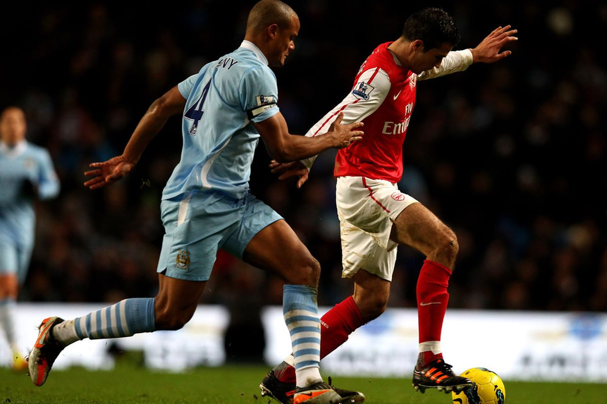 RvP vs. Kompany would be a key battle in this match
